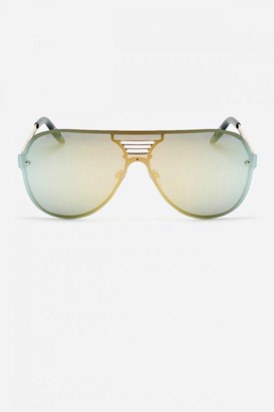 Quay australia showtime gold mirror designer sunglasses