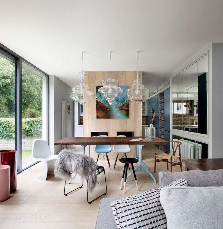 Meuble Salle  Manger Moderne De Style Scandinave  Chaises Eames