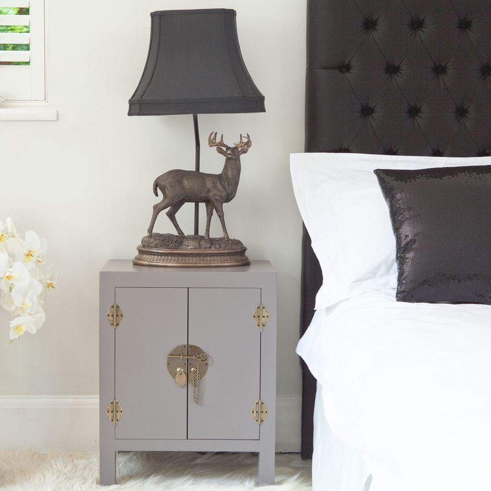 Best Rama Sita Slate Grey Bedside Cabinet Bedside Tables 400 x 300