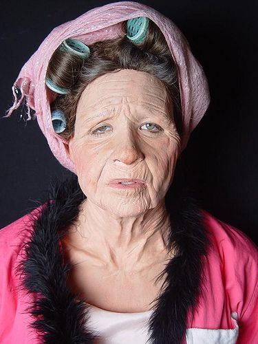 Old Age Prosthetic Application in 2020 Old age makeup