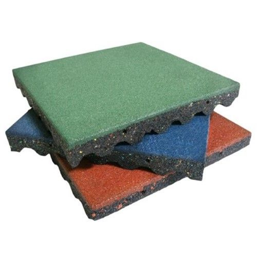 Rubber Cal Eco Safety Interlocking Playground Tiles Blue 20 X 20 X 2 5 In Pack Of 10 Playground Tile Rubber Playground Surface Playground Mats