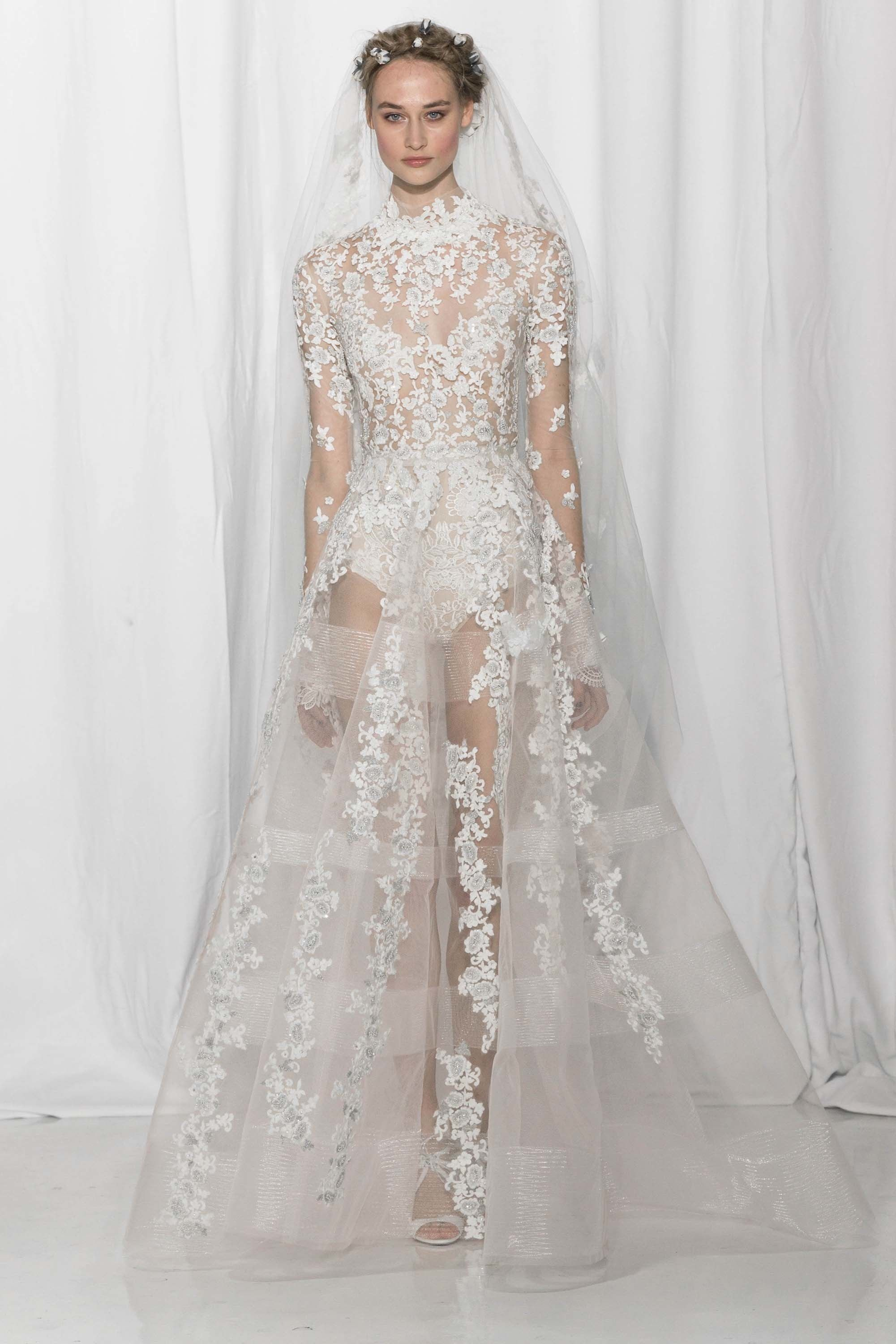 Reem Acra Bridal Fall 2017 Fashion Show | Reem acra bridal, Wedding ...