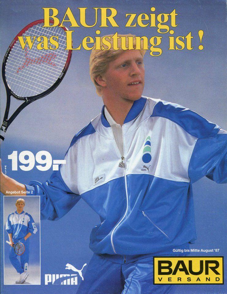 Impressionen der 80er: Boris Becker im BAUR Katalog 1987   TENNIS ...