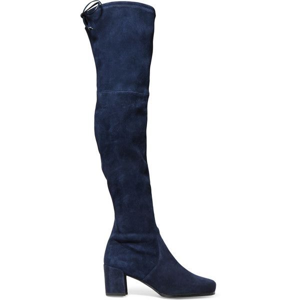 Over the knee boots, Navy blue boots