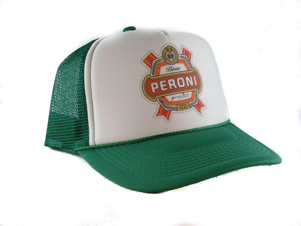 6058f28ddf9 Vintage Peroni Beer Trucker Hat mesh hat snapback hat green new  Unbranded   TruckerHat