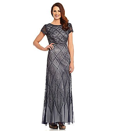 Adrianna Papell Geometric Beaded Gown #Dillards   Mother of the ...