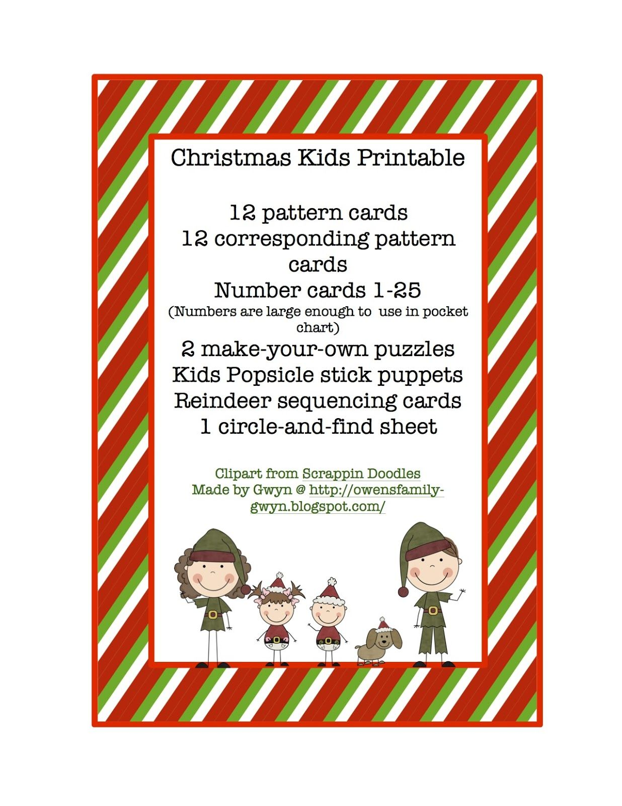 Christmas Kids Printable