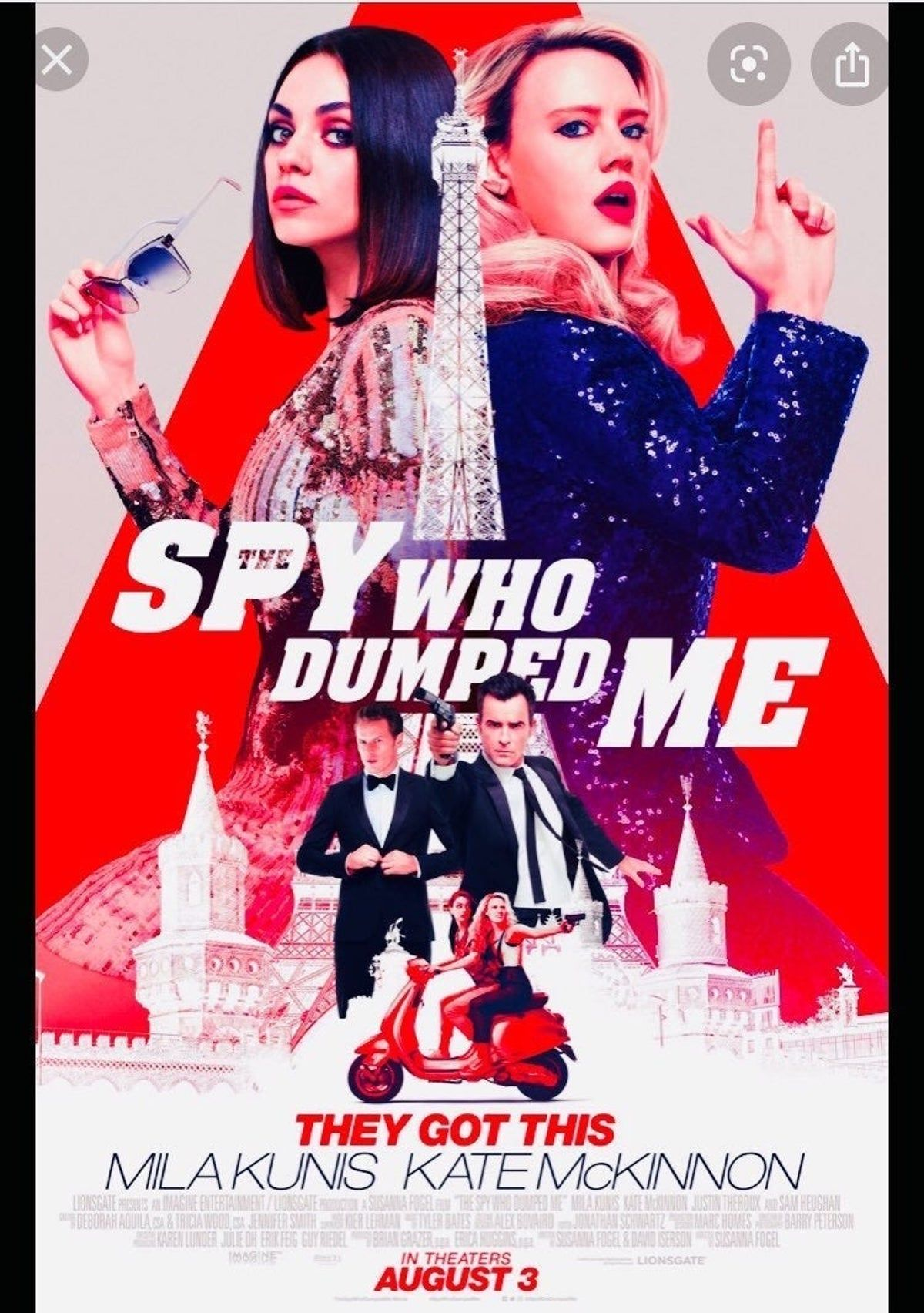 27x40in the spy who dumped me poster in 2020 english