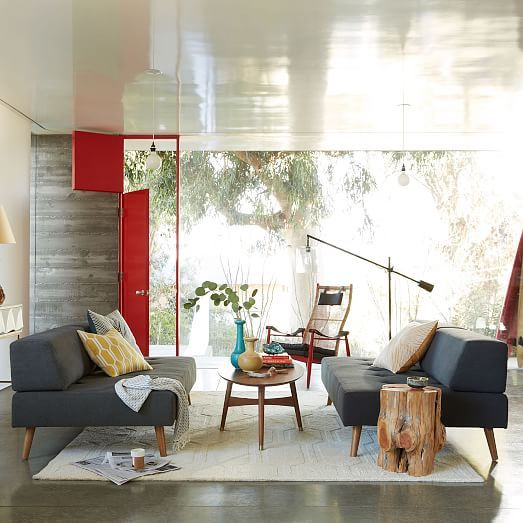 Retro Tillary#174; 2-Sofa Sectional Retro, Living rooms and Room