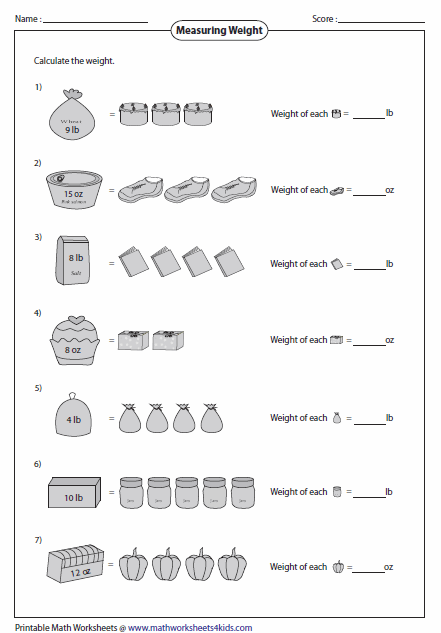 Weight Worksheets Measurement Worksheets, Worksheets, Telling Time  Practice