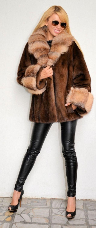 saga v ritable vison manteau de fourrure pour femmes. Black Bedroom Furniture Sets. Home Design Ideas