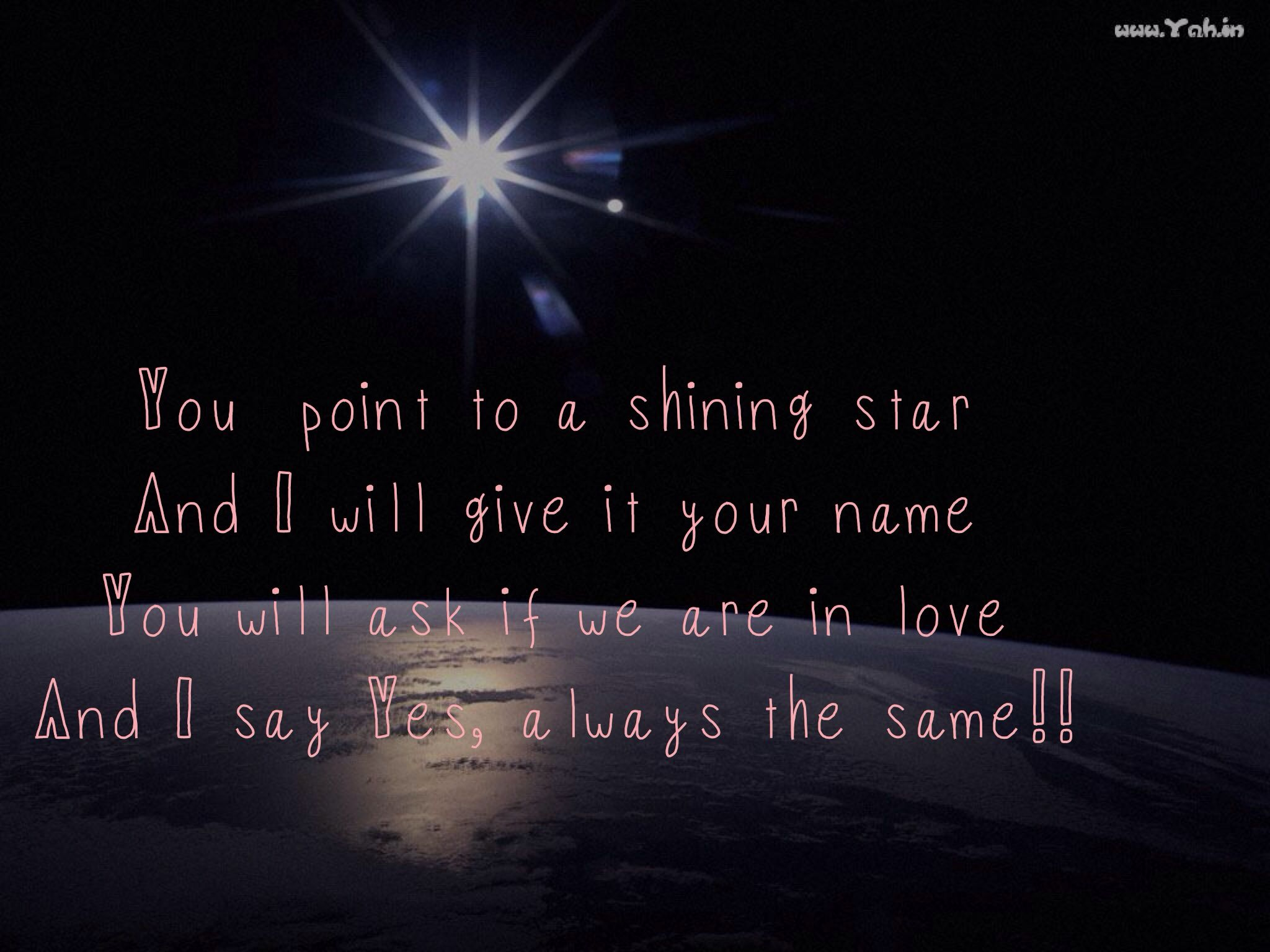 Stars And Love Quotes: Shining Star, Love Poem
