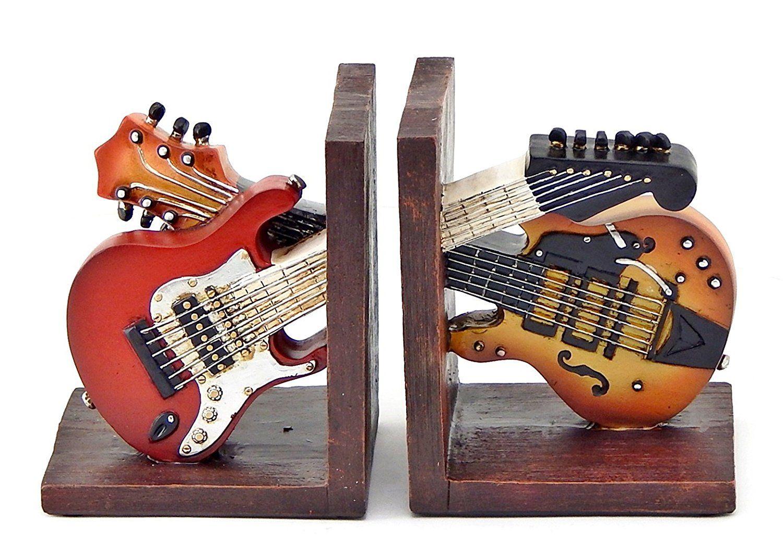 Decorative Kitchen Bookends Amazon Decorative Bookends Vintage Guitar  Double Music For 66