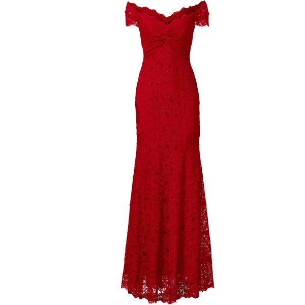 Rental Nicole Miller Red Tempted By You Gown ($150) ❤ liked on ...