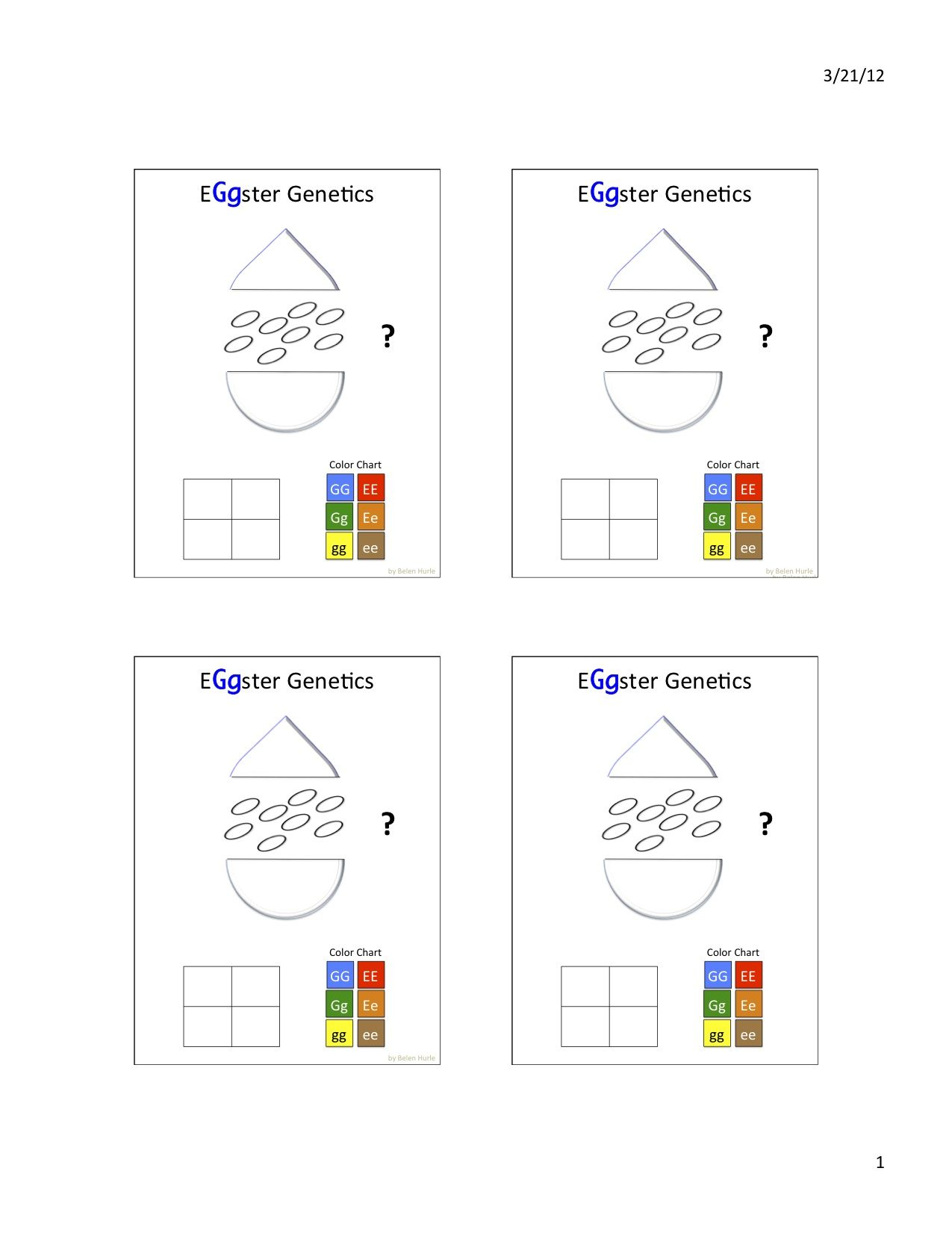 Eggster Genetics Worksheet 3 Now You Figure Out Your Egg
