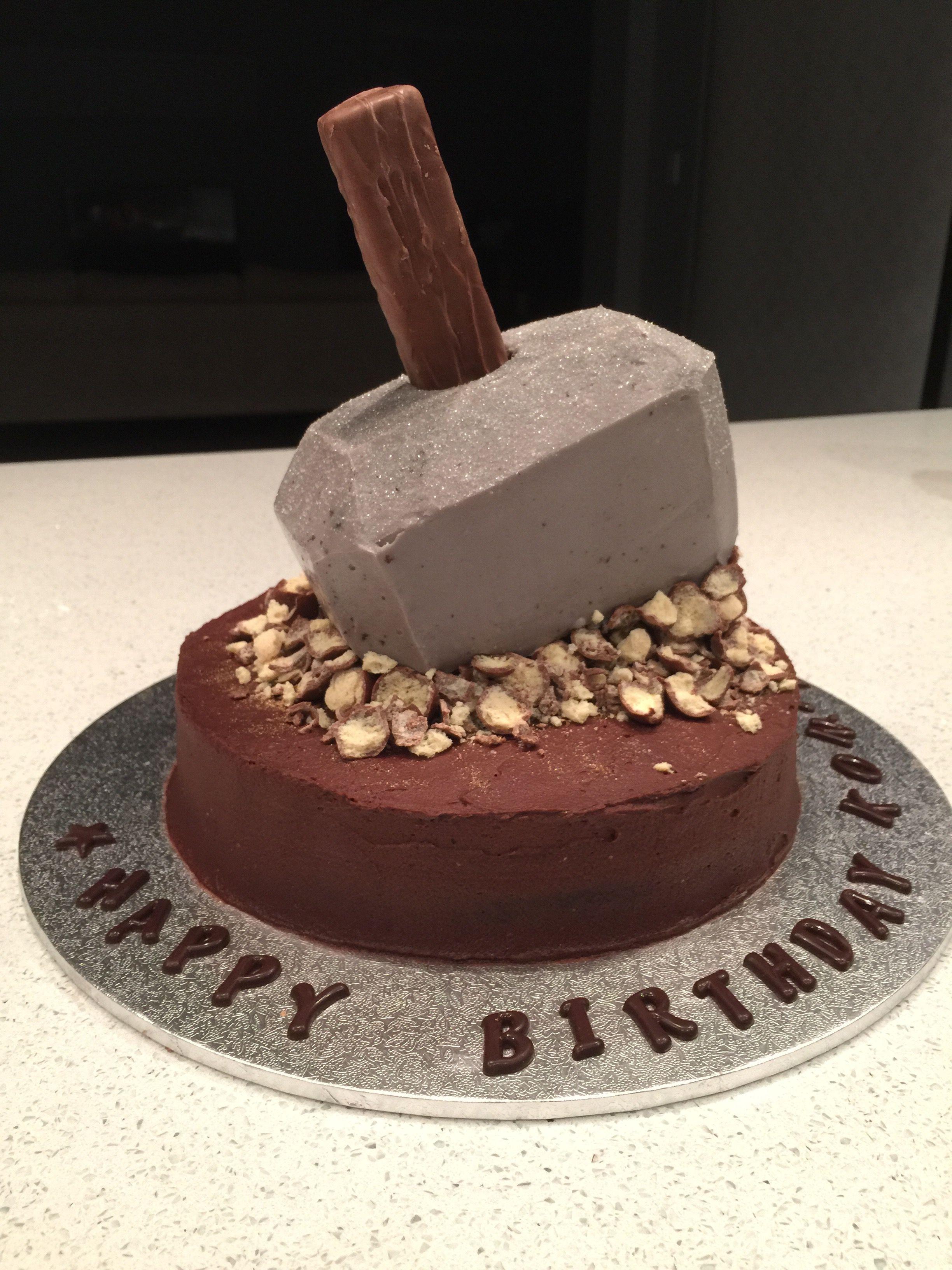 Thors Mjolnir Cake Base Mud Cake With Chocolate Mousse Hammer