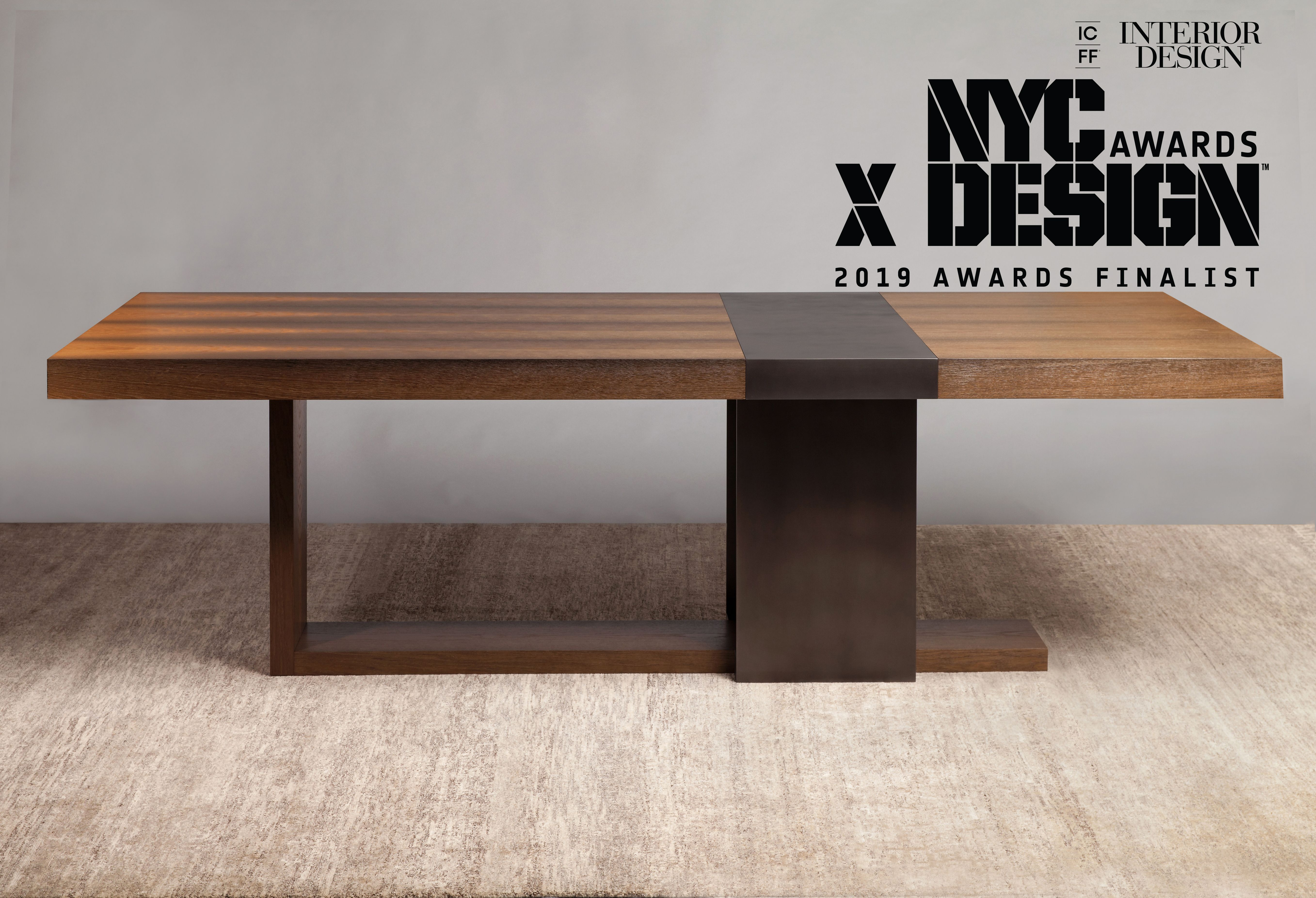 Interior Design Magazine And Nycxdesign Has Named Luma Design Workshop S Strap Dining Table As A Finalist In The 2019 Nycxdesign Award Furniture Table Interior