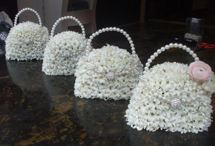 A Different Kind of Maiden bouquet instead of the treditional give them these love floral bags. These are real flowers - from Jamie Aston - Image 9