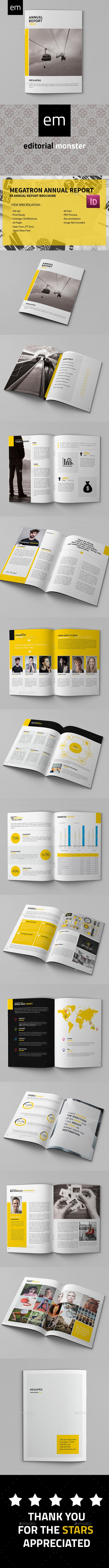 Megatron - Annual Report | Annual reports, Template and Brochures