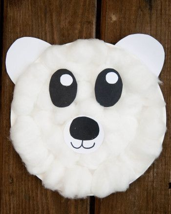 Polar Bear Craft Paper Plates Bear Crafts Crafts Preschool