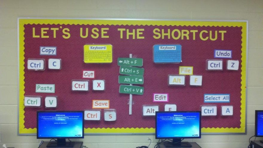 Classroom Decoration Ideas For High School Computer Lab ~ Computer lab bulletin board ideas classroom