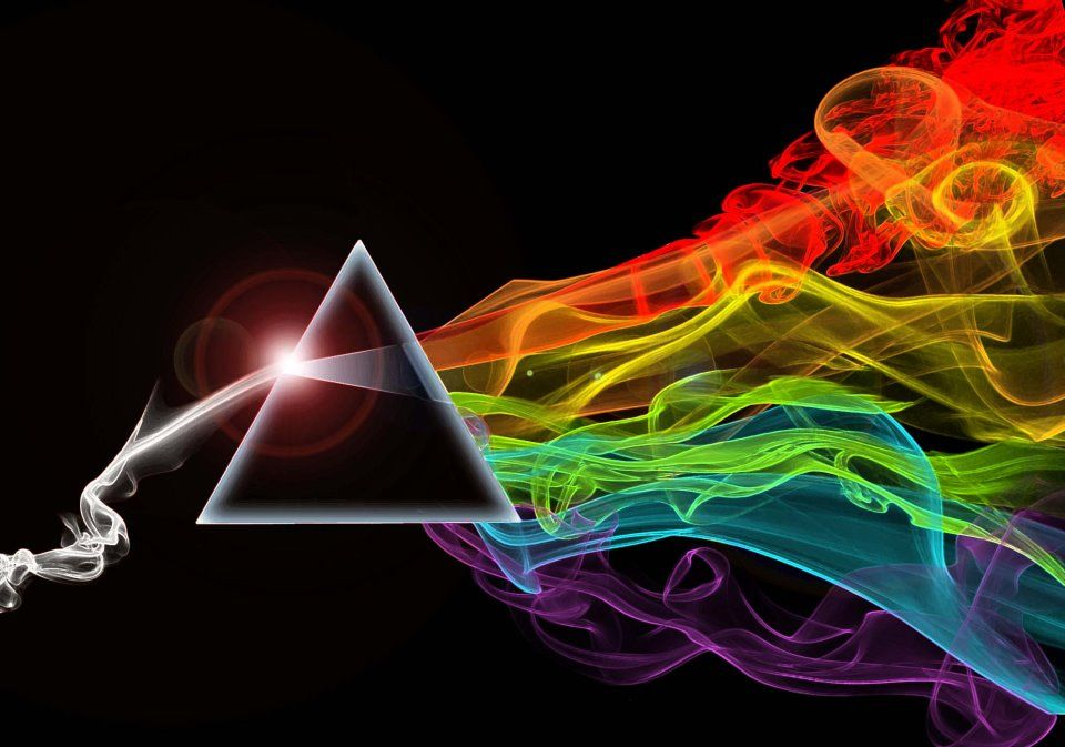 great Pinterest graphic of the famous pink floyd pyramid color spectrum