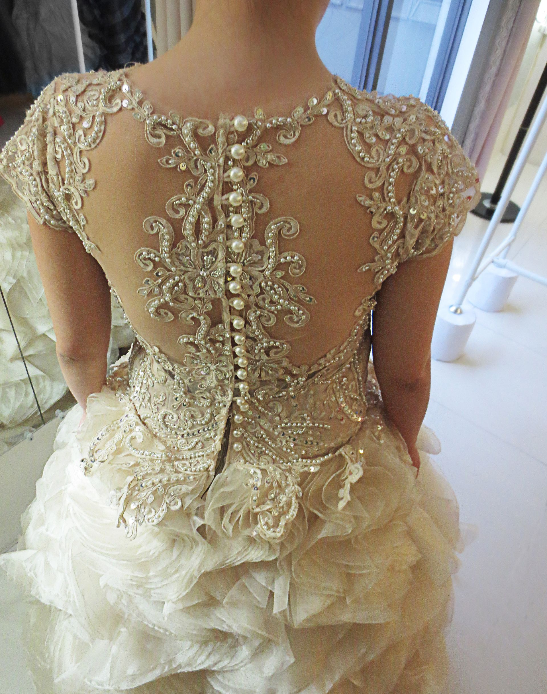 Back buttons Wedding gown bridal gown wedding lace bridal lace with ...
