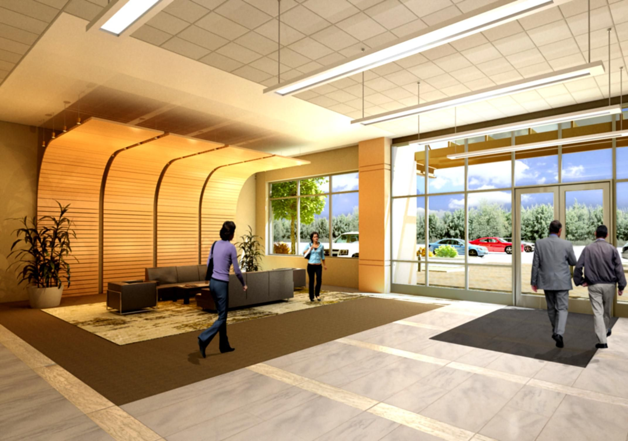 Image gallery modern office lobby for Beautiful modern office design