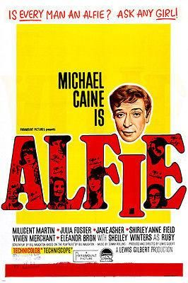 Michael Caine ALFIE MOVIE POSTER millicent martin /& SHELLY WINTERS 24X346