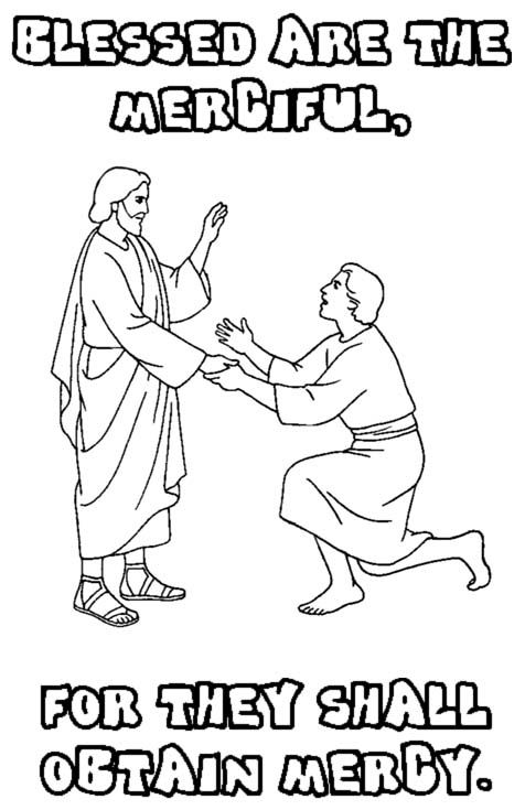 Matthew 5 5 Printable Coloring Page Sunday School Coloring Pages