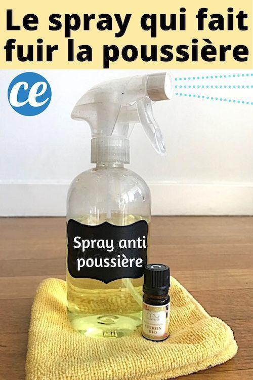Le Spray Magique Fait Maison Qui Fait Fuir La Poussiere Pour De