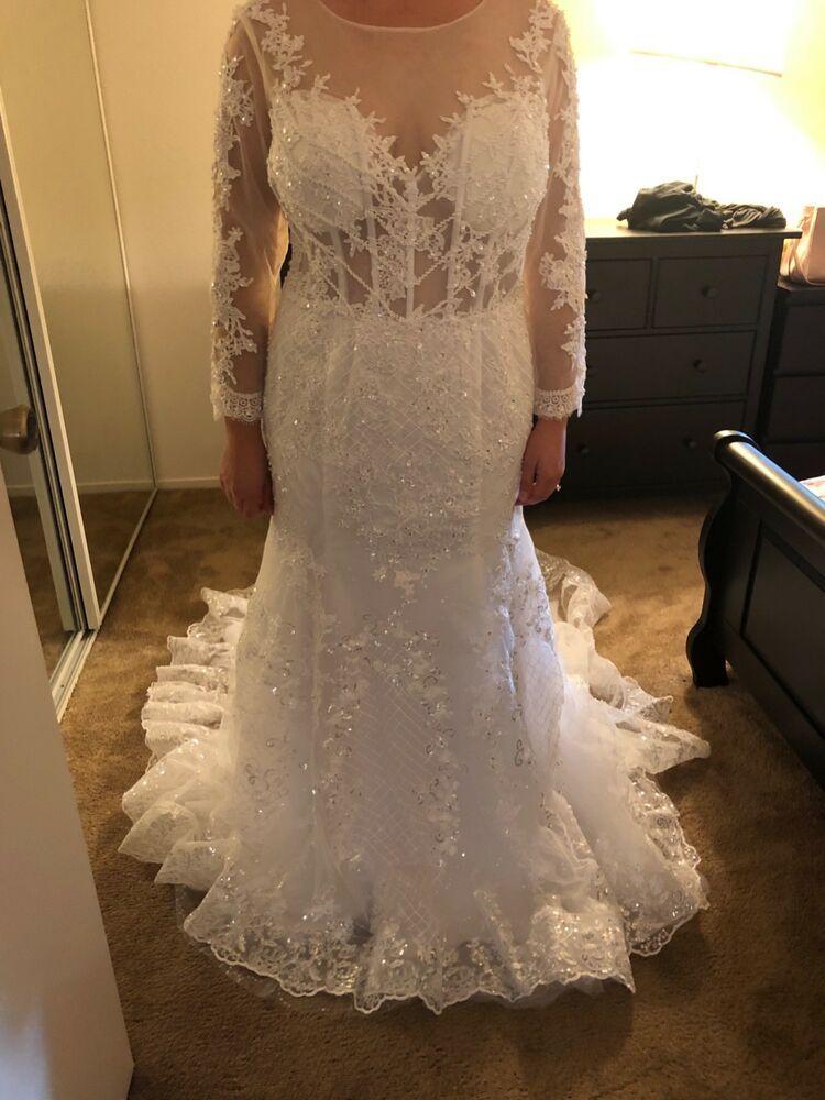 251131b2a9 womens wedding dress size 18  fashion  clothing  shoes  accessories   weddingformaloccasion  weddingdresses (ebay link)