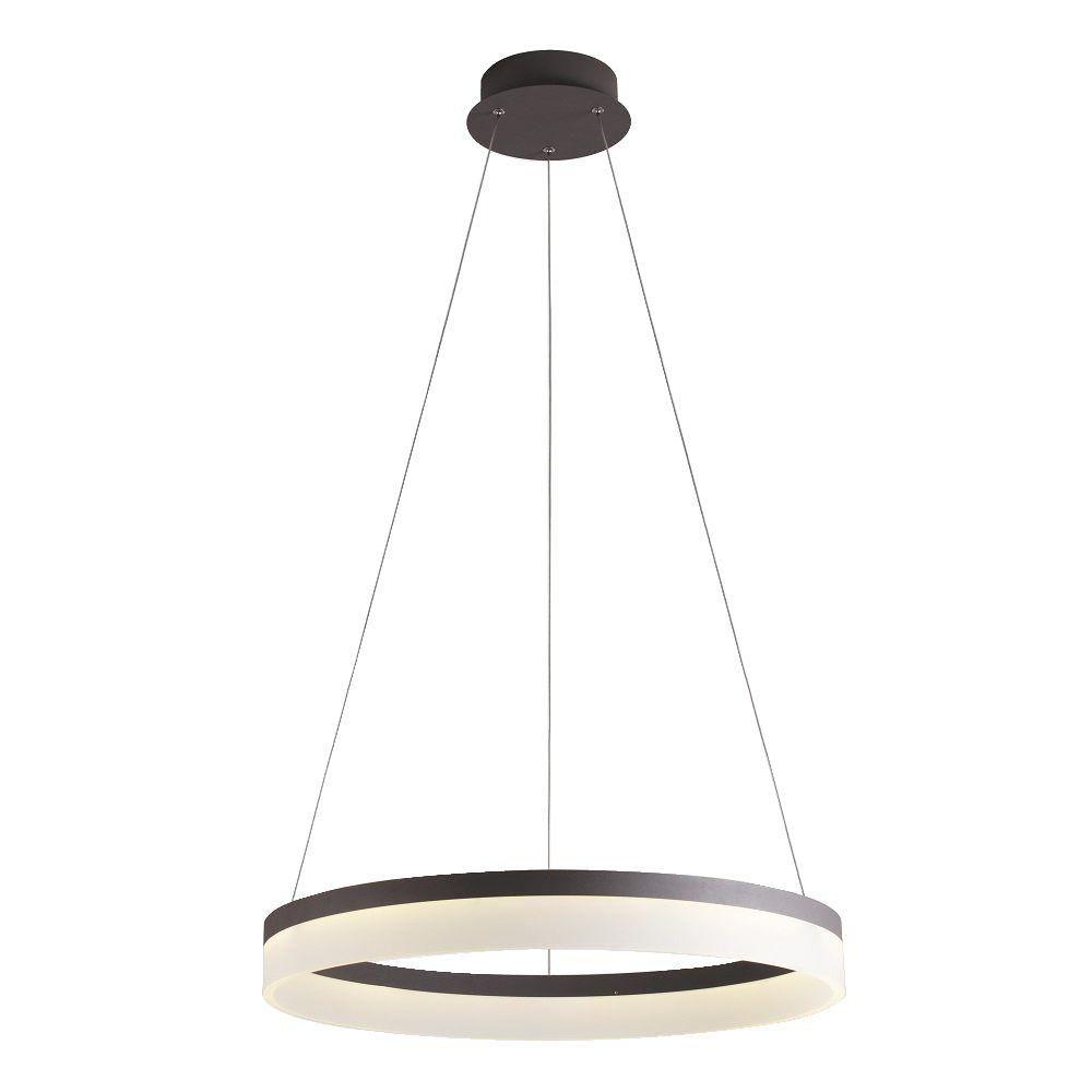 pendant led lighting fixtures. BAZZ Orion 40-Watt Grey Integrated LED Circular Pendant Fixture-P14786BS - The Home Depot Led Lighting Fixtures