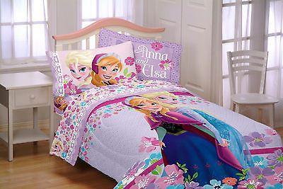 Disney Comforter Frozen Bed Set Twin Bedding Kids Elsa Anna 64 x 86 ...
