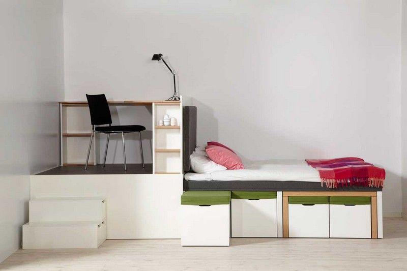Schlafzimmer Mobel Fur Kleine Raume #16: Platzsparende Möbel - 25 Ideen Für Kleine Räume