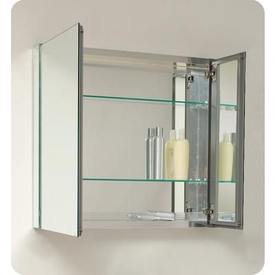 Lowes Medicine Cabinets With Lights Fascinating Fresca  30 Inch Wide Bathroom Medicine Cabinet With Mirrors Inspiration