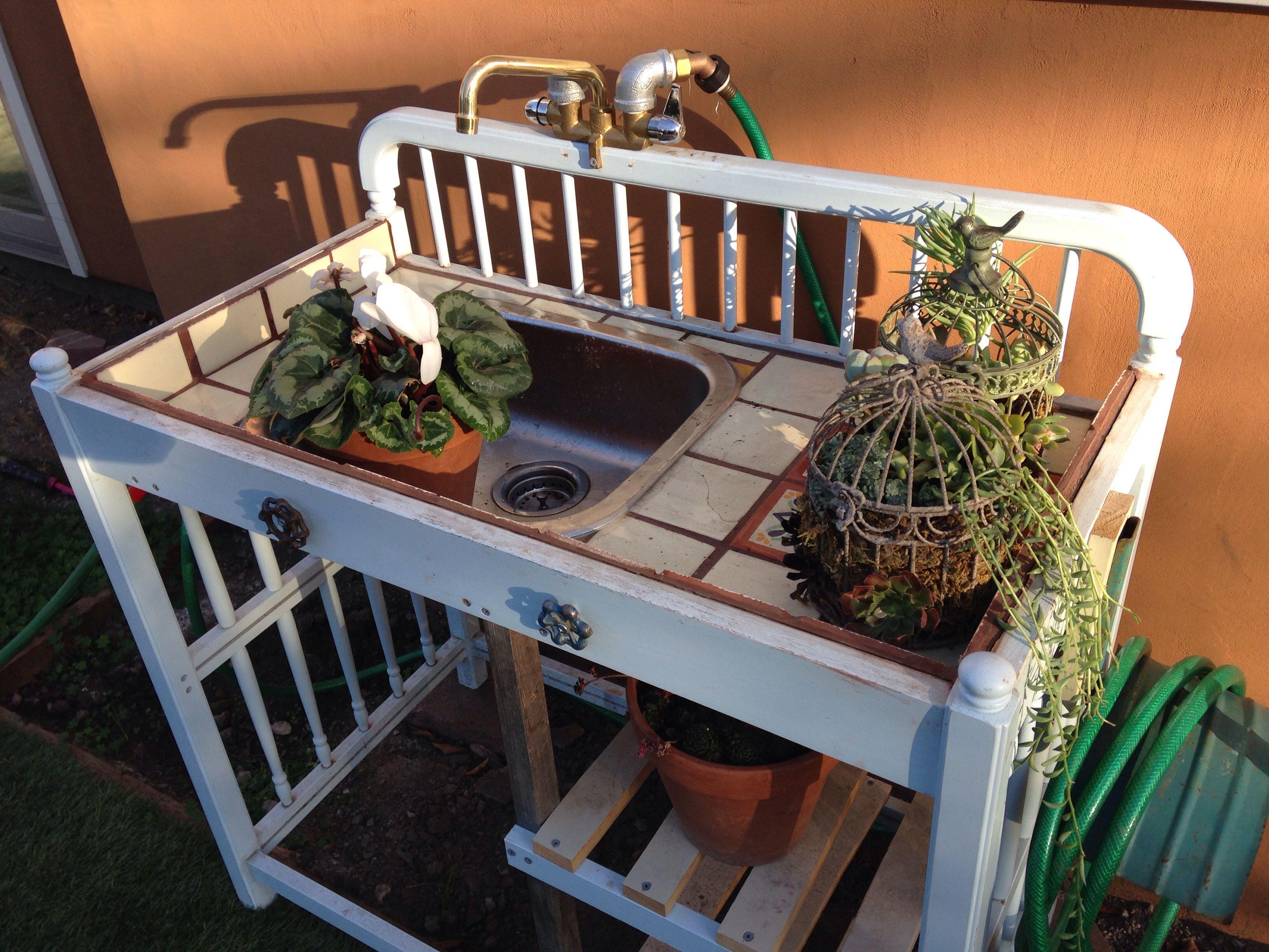 Old Baby Crib Bench