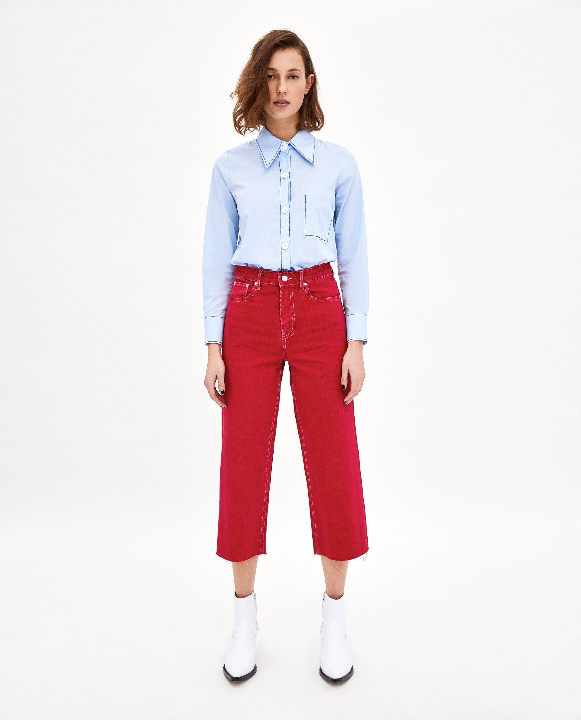 d3c610879b JEANS HIGH WAIST CULOTTE VERMONT RED | Vêtements | High waist jeans ...
