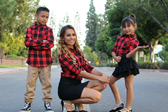 7b3cb5ca096a9 Red and black Plaid shirt Mommy and me outfits by LittleMiaBella ...