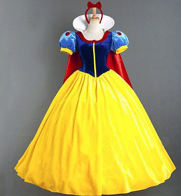 Adult Snow White Princess Fancy Dress Costume Fairytale Storybook Ladies New