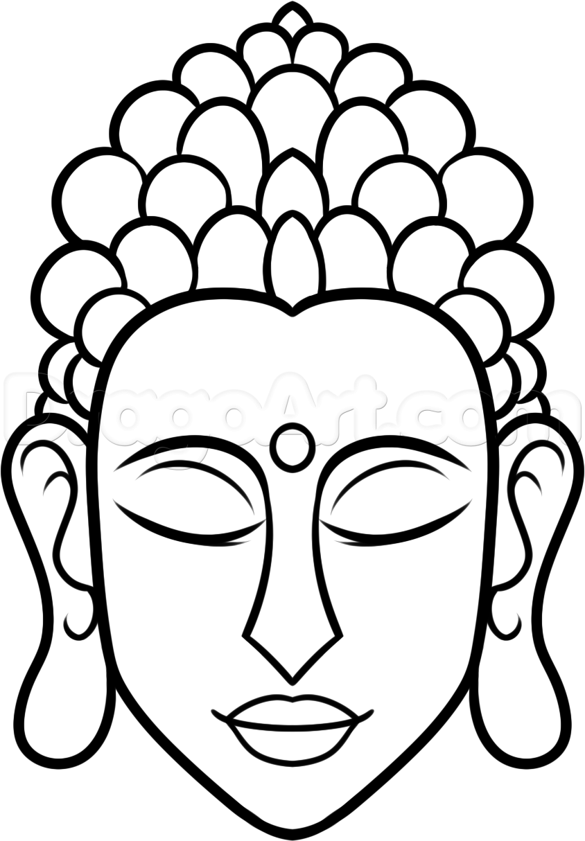 Drawing Lines In D : How to draw buddha easy step art pinterest