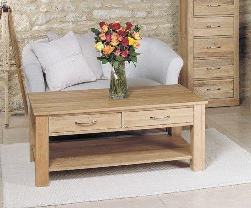 mobel oak four drawer coffee table cor08d