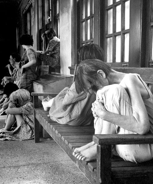 Patients In A Hospital For The Mentally Ill, Circa 1946 By