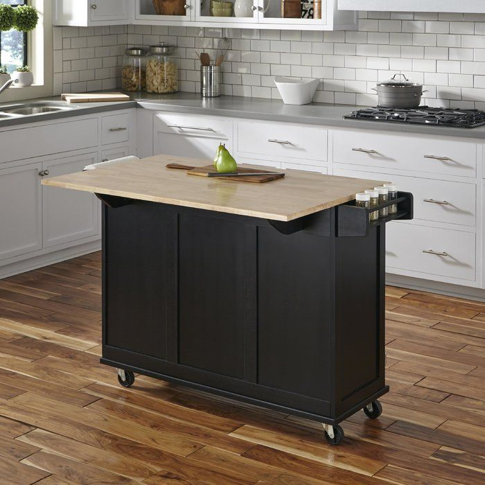 Kuhnhenn Kitchen Island Andover Mills Kuhnhenn Kitchen Cart With Wood Top In 2019