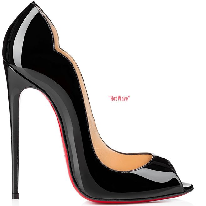 e8676ab2a53 Christian Louboutin- spring 2015 - Hot Wave peep toe pump