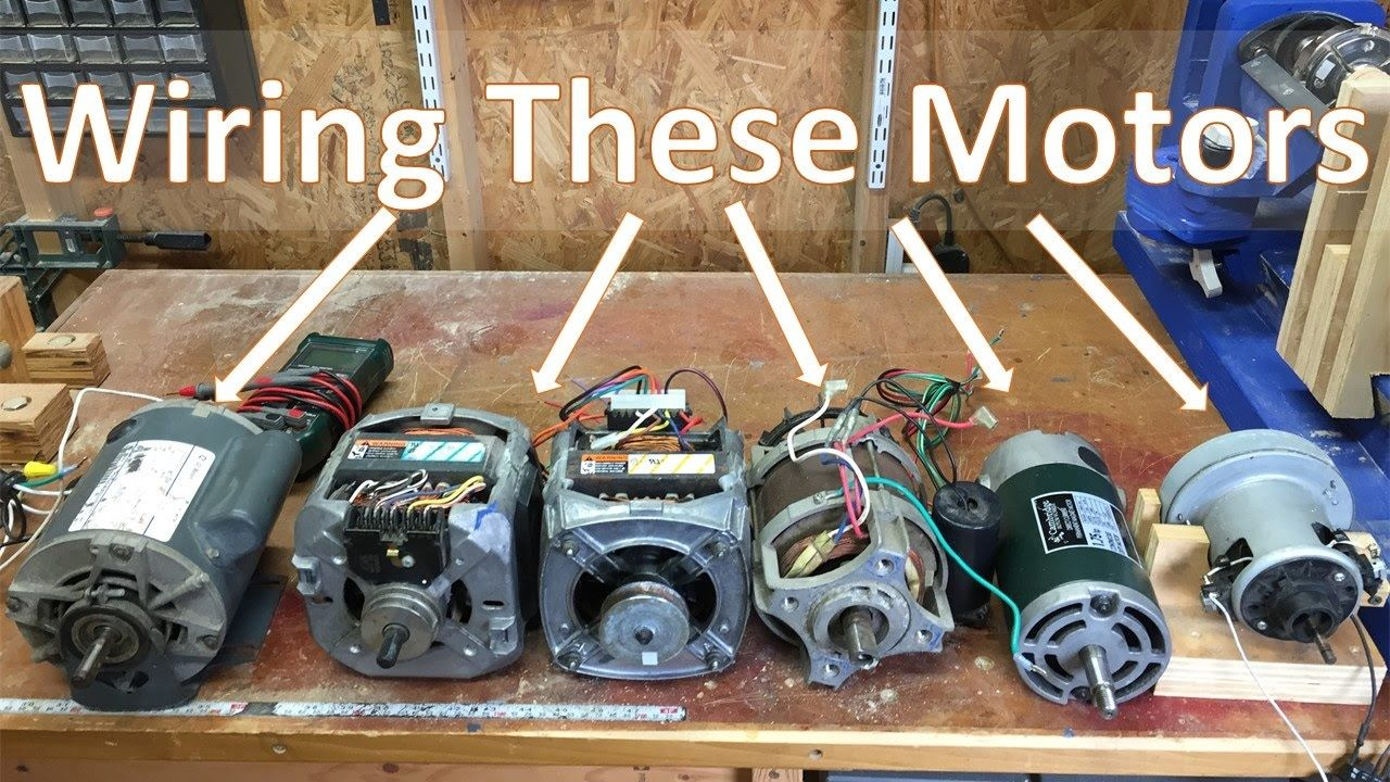 11 How To Wire Most Motors To Build Shop Tools, Blower motor, Washing m | Workshop | Washing