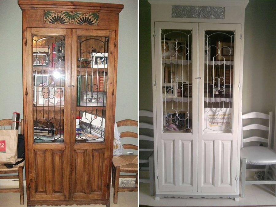 Muebles antes y despu s de ser tuneados bricolaje for Muebles antiguos reciclados