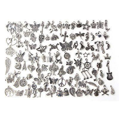 Wholesale 100pcs bulk lots tibetan silver mix charm pendants jewelry wholesale 100pcs bulk lots tibetan silver mix charm pendants jewelry diy aloadofball Gallery