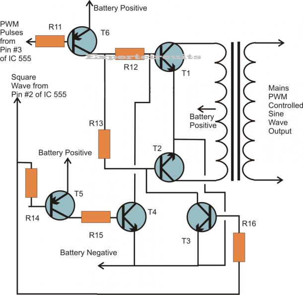 1000 W Inverter Circuit Diagram in 2020 | Circuit diagram ...