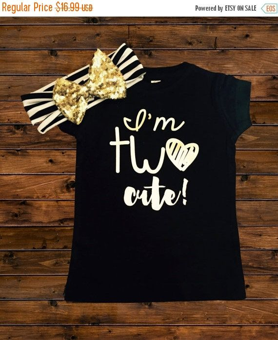 144d79f5 I'm TWO Cute Shirt - Two Cute - 2nd Birthday Shirt - SHIRT Only ...